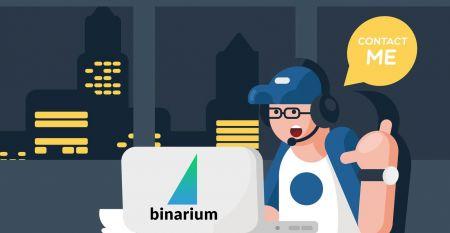 Binariumサポートへの連絡方法