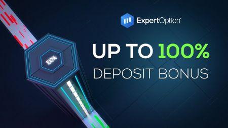 ExpertOption Welcome Promotion - 100٪ پاداش سپرده تا 500 دلار