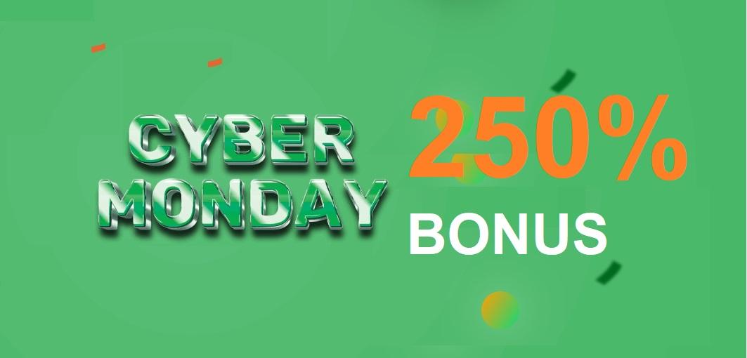 Raceoption CYBER MONDAY Promotion - 250% Deposit Bonus