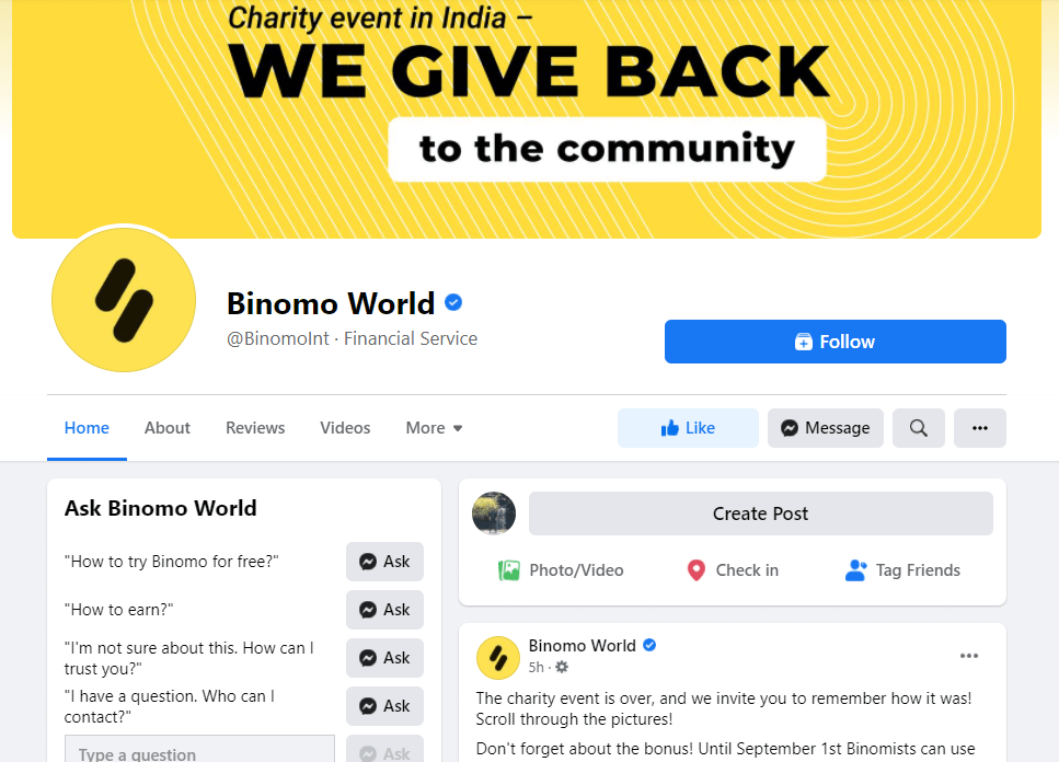 How to Contact Binomo Support