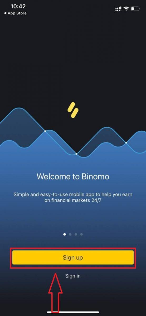 Binomoで取引口座を開設する方法