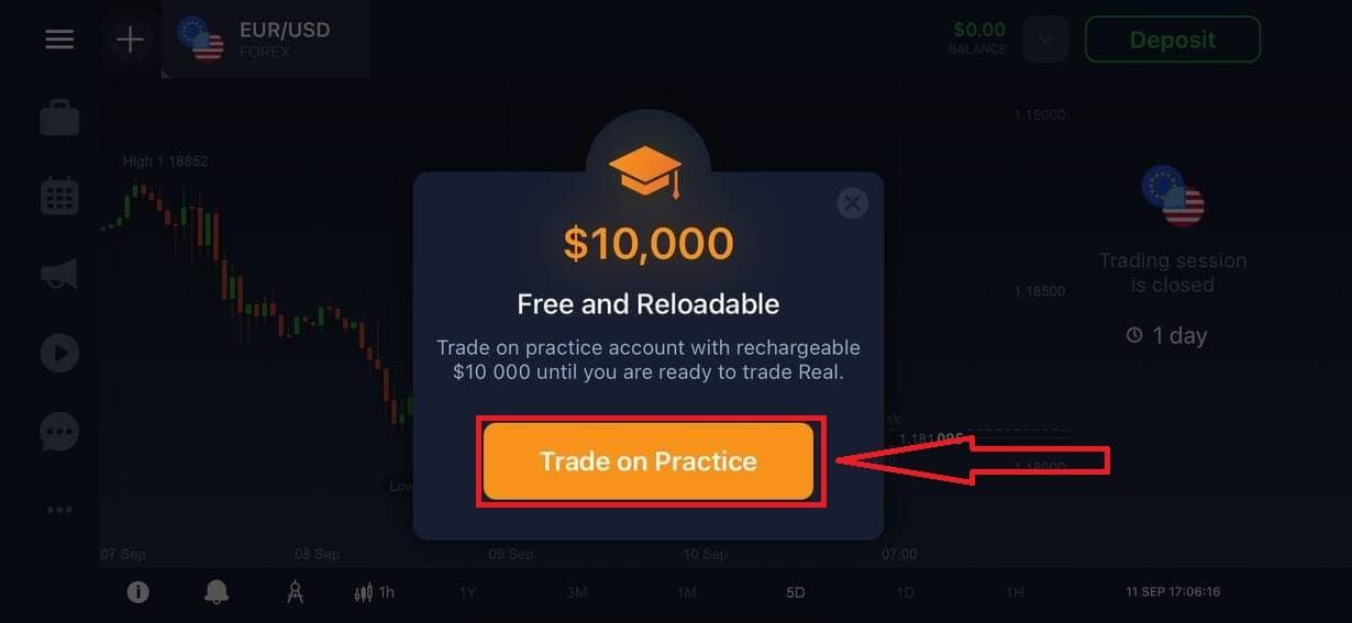 IQ Optionで取引口座を開設する方法