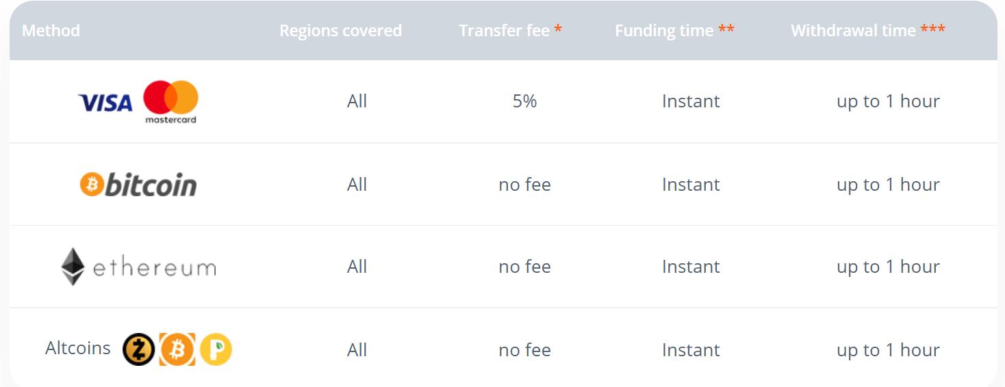 Raceoptionでお金を入金する方法