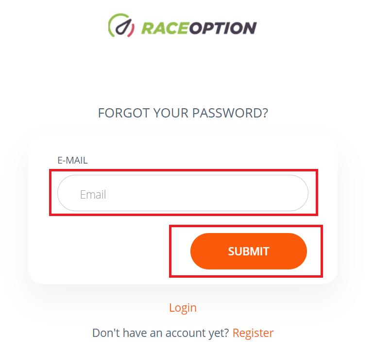 Raceoptionでログインしてお金を入金する方法